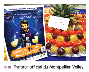 Traiteur officiel du Montpellier Volley